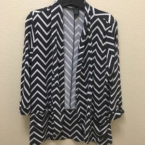 Women's Robert Louis Medium Black & White Cover Up